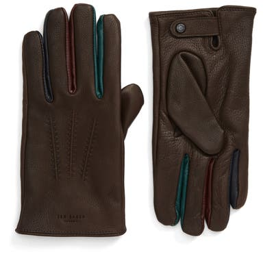 Ted Baker London Parm Leather Gloves, Brown