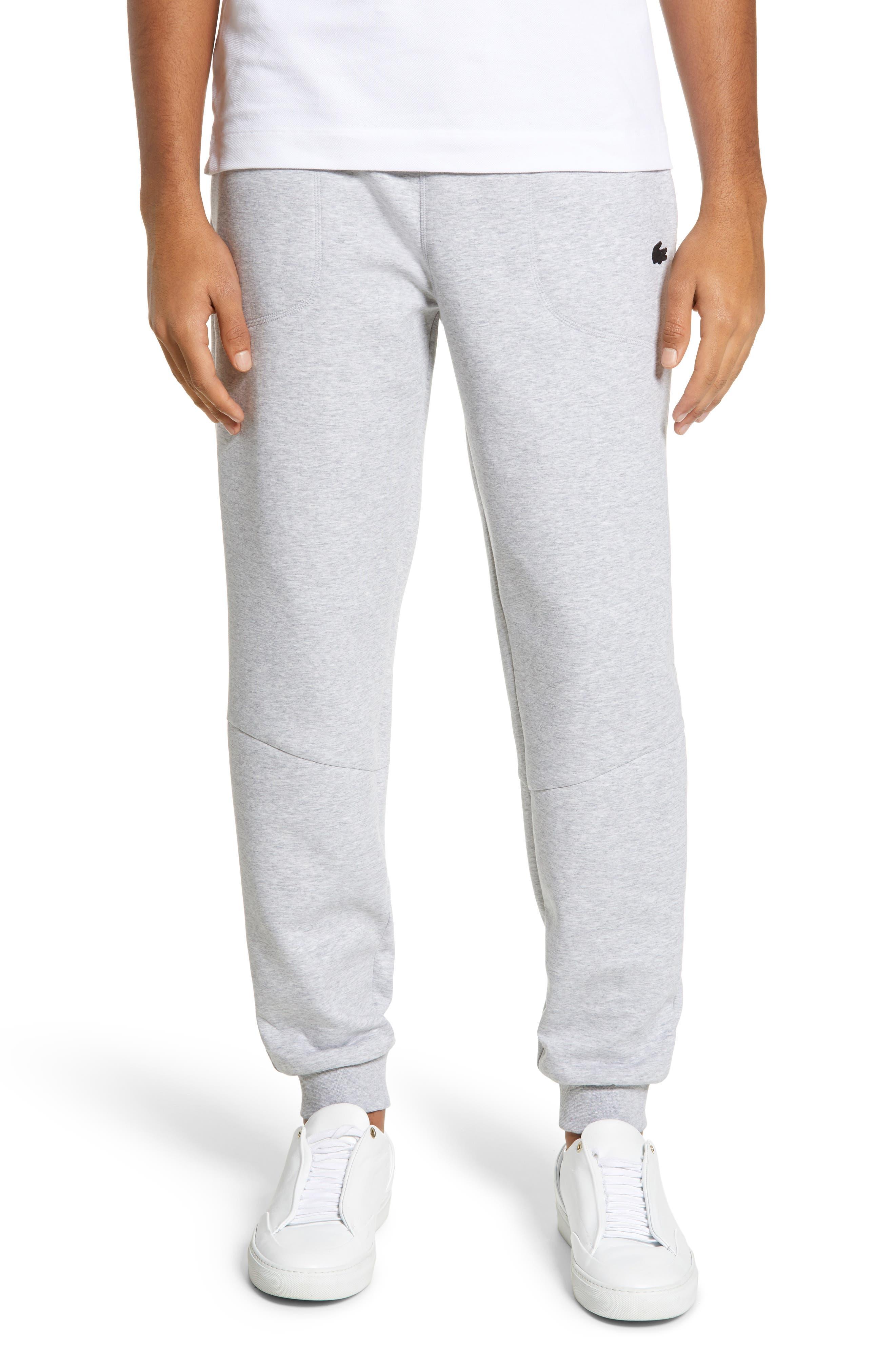 Lacoste Motion Relaxed Fit Fleece Sweatpants, Metallic