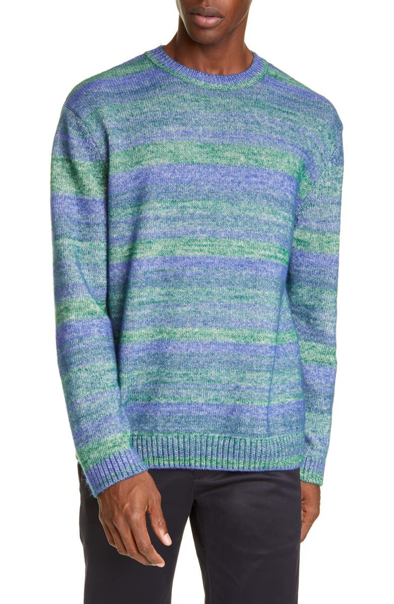 CLOSED Crewneck Sweater, Main, color, BRIGHT GREEN
