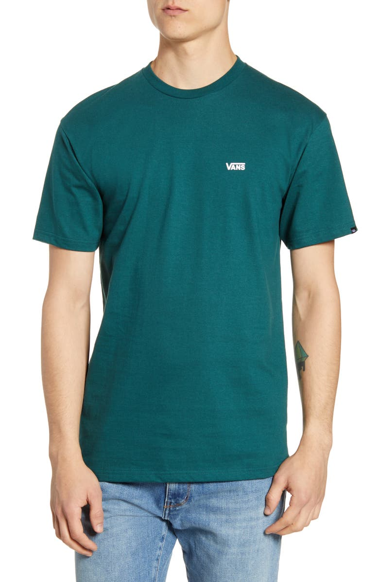 VANS Solid Logo T-Shirt, Main, color, VANS TREKKING GREEN
