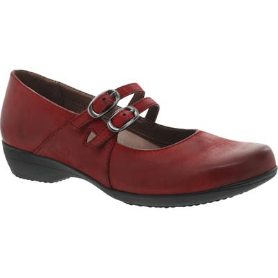 Dansko Fynn Mary Jane Pump-6- Red