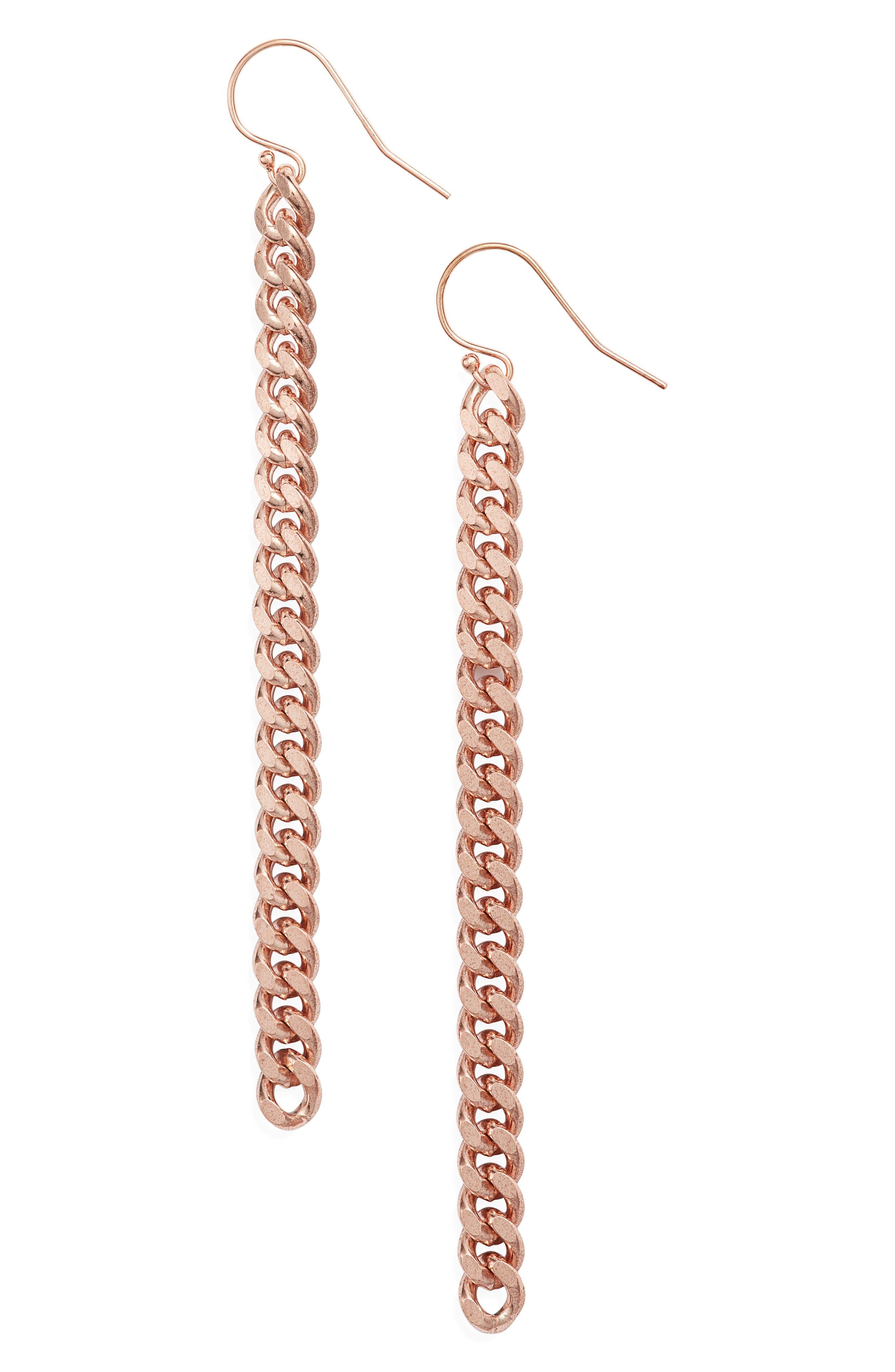 Classic Chain Linear Drop Earrings