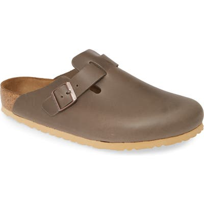 Birkenstock Boston Soft Clog,8.5 - Grey