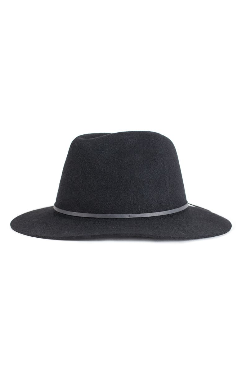 BRIXTON 'Wesley' Wool Fedora, Main, color, BLACK