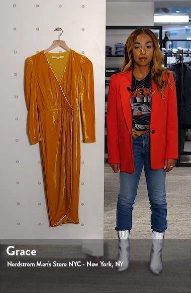 Anthea Long Sleeve Velvet Dress, sales video thumbnail