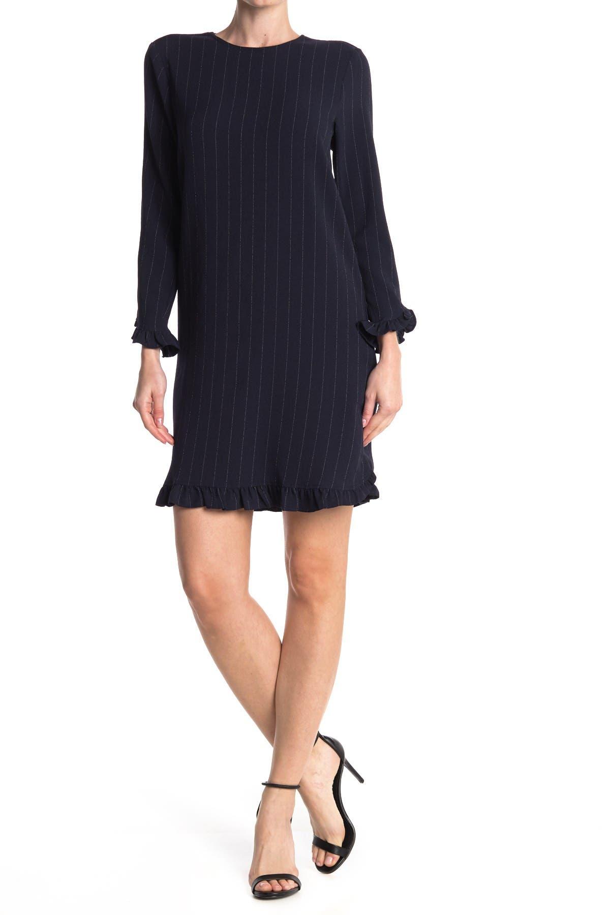 Image of GANNI Heavy Crepemini Ruffle Dress