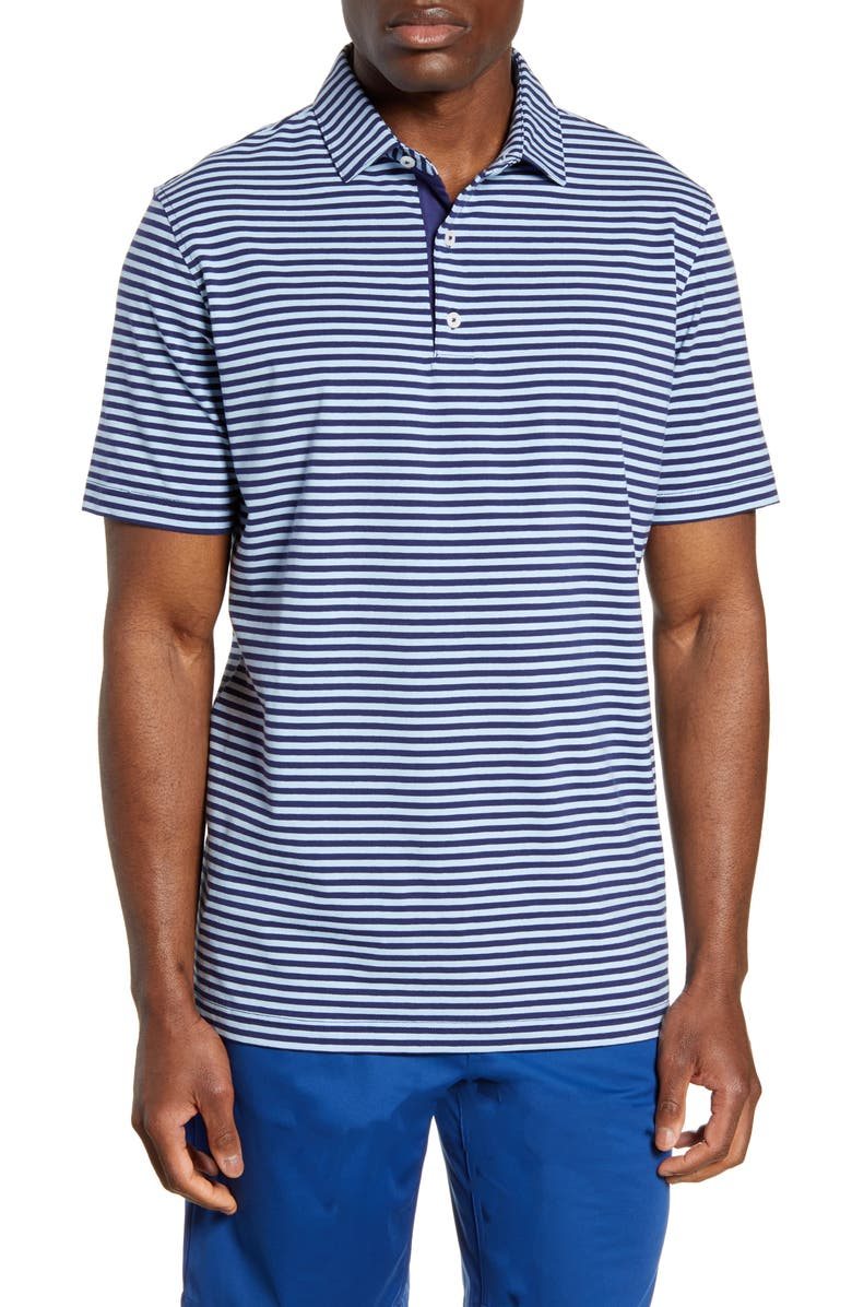 JOHNNIE-O Noah Stripe Classic Fit Polo, Main, color, 411