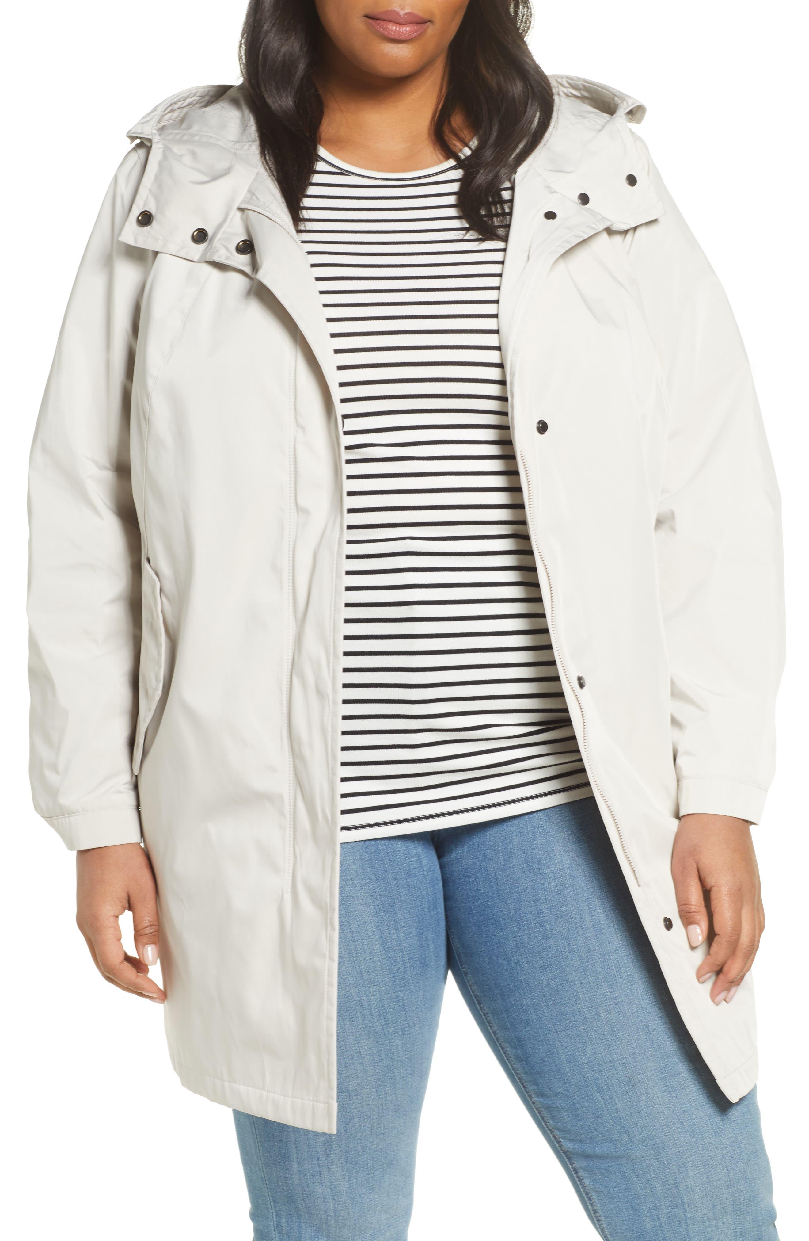 Water Repellent Hooded Raincoat