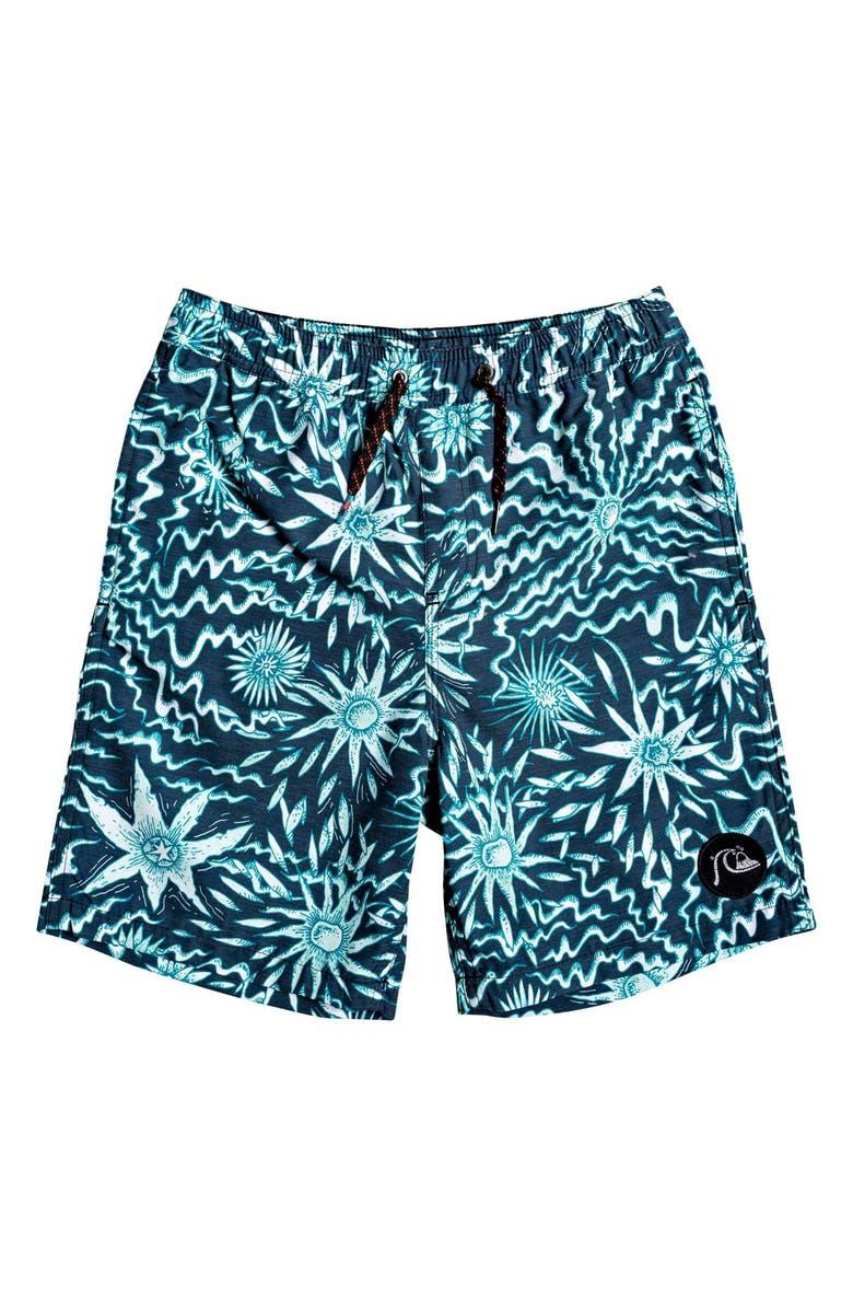 QUIKSILVER Voodoo Volley Board Shorts, Main, color, MOONLIT OCEAN