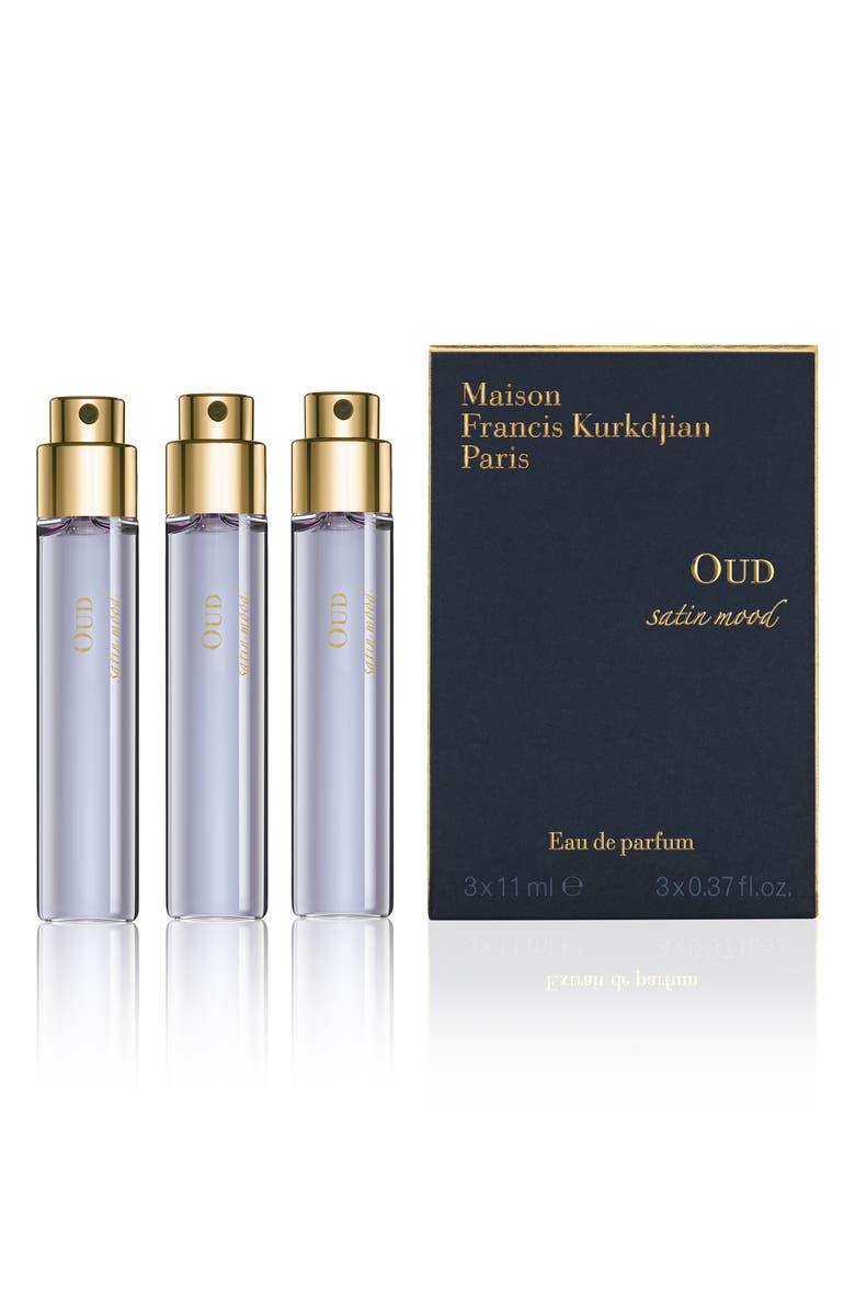 MAISON FRANCIS KURKDJIAN PARIS Oud Satin Mood Eau de Parfum Travel Spray Trio, Main, color, 000