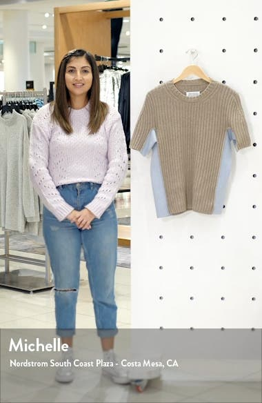 Contrast Panel Ribbed Sweater, sales video thumbnail