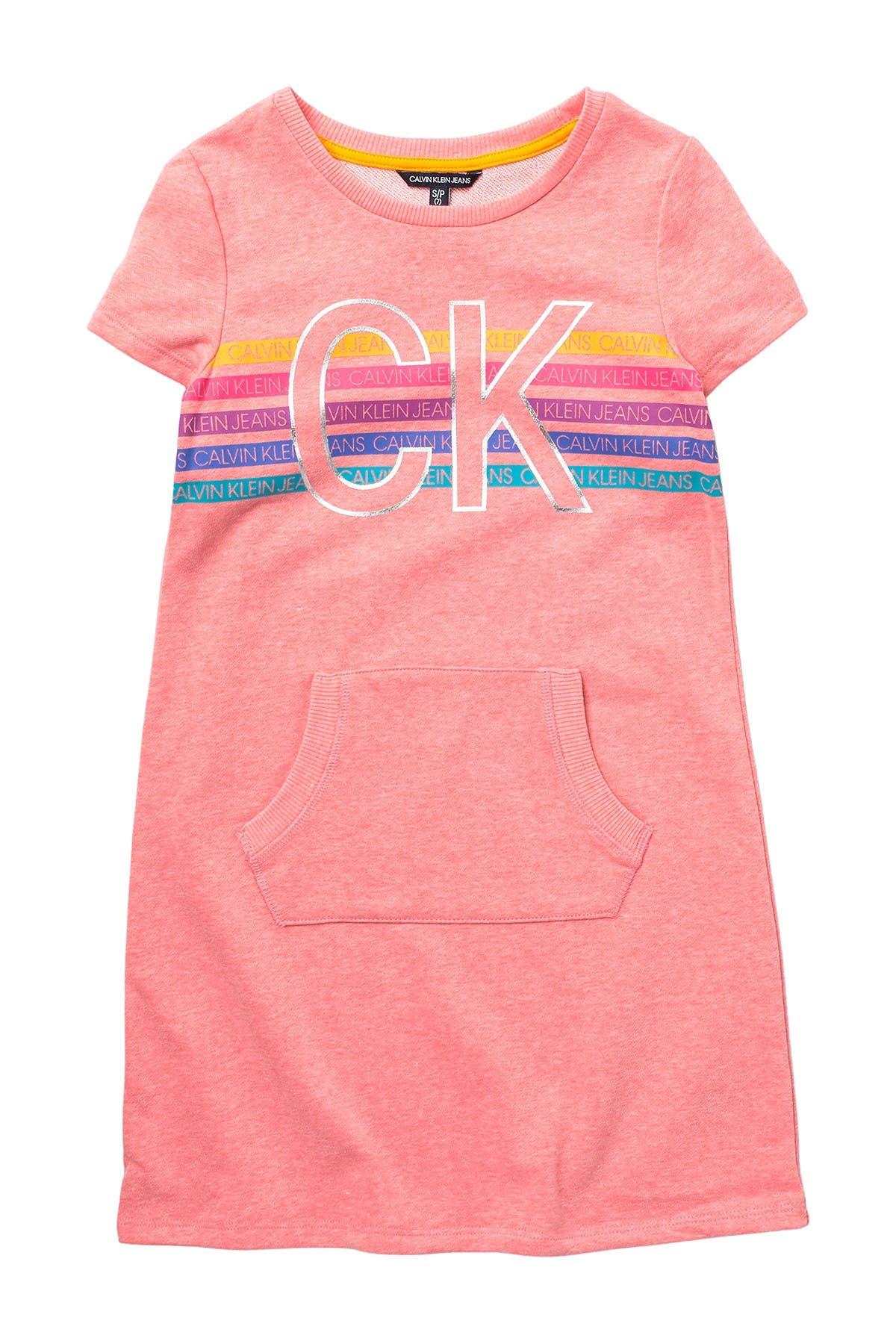 Image of Calvin Klein Pocket Front Knit Dress