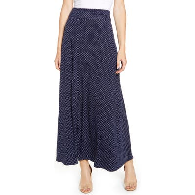 Loveappella Roll Top Maxi Skirt, Blue