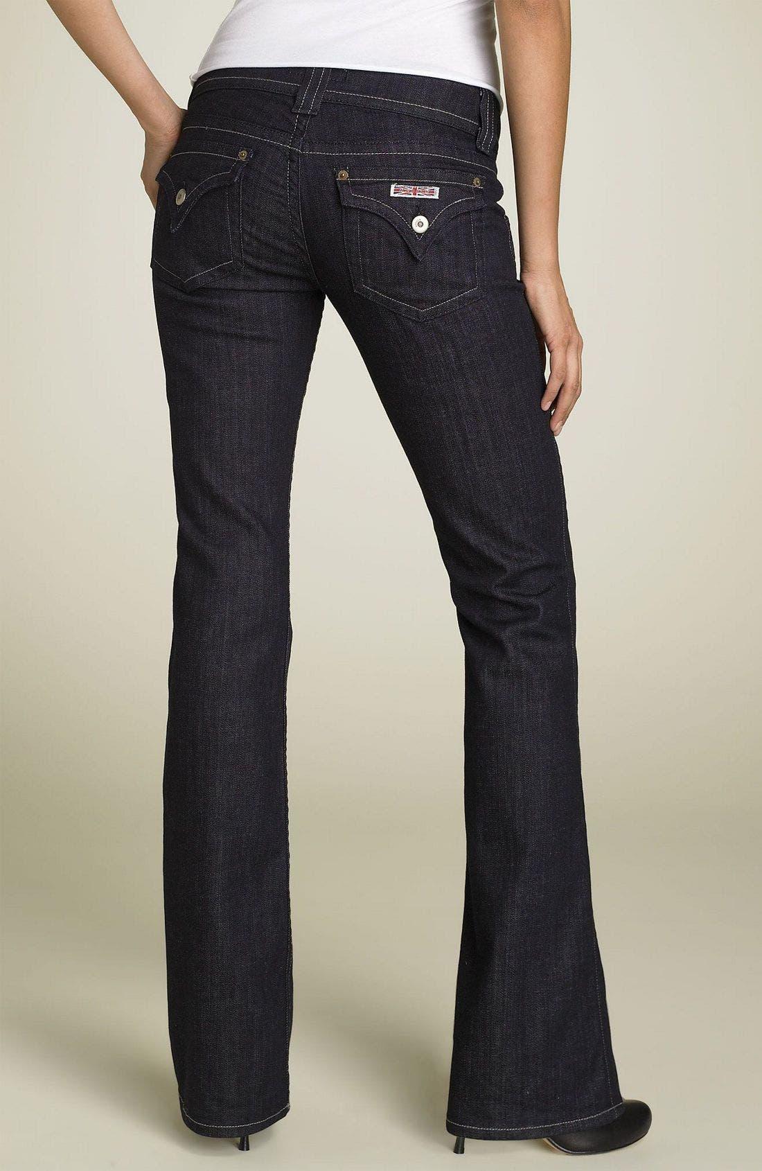 ,                             Signature Flap Pocket Bootcut Jeans,                             Alternate thumbnail 85, color,                             489