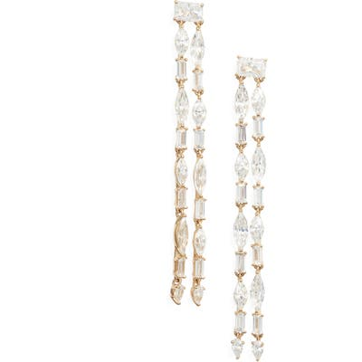 Nadri Gala Double Row Linear Earrings