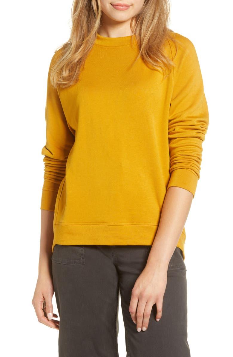 LOU & GREY Zen Bounce Sweatshirt, Main, color, EARLY HARVEST