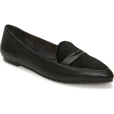 Me Too Addie Genuine Calf Hair Pointed Toe Loafer