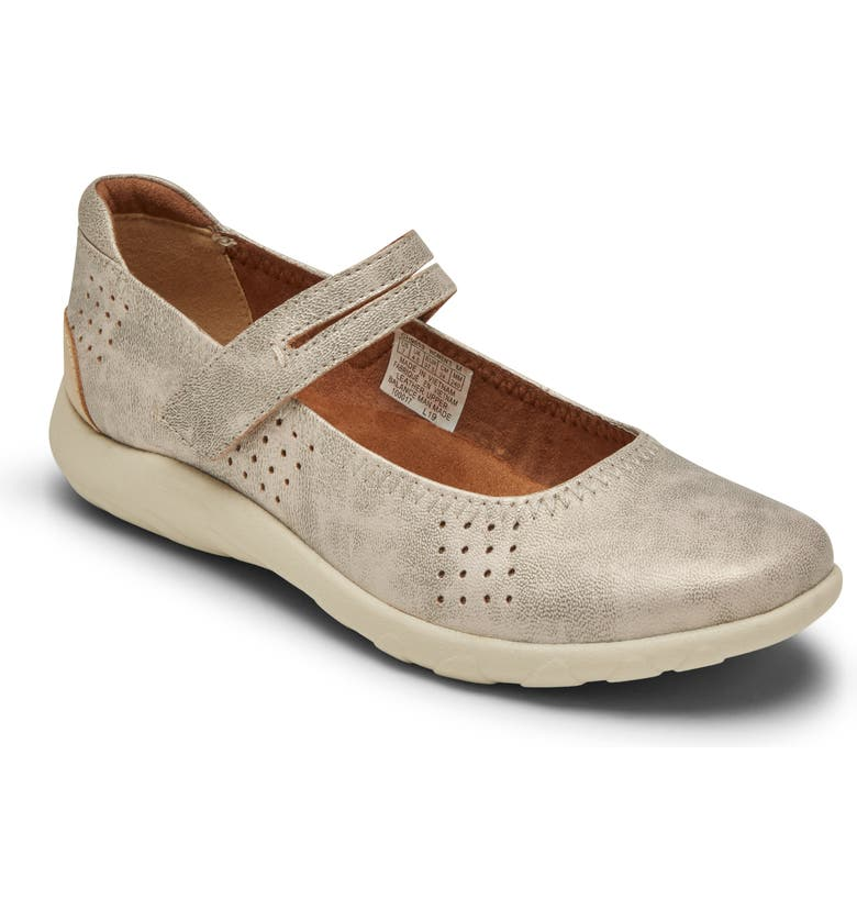 ROCKPORT COBB HILL Amalie Sport Mary Jane Flat, Main, color, METALLIC LEATHER