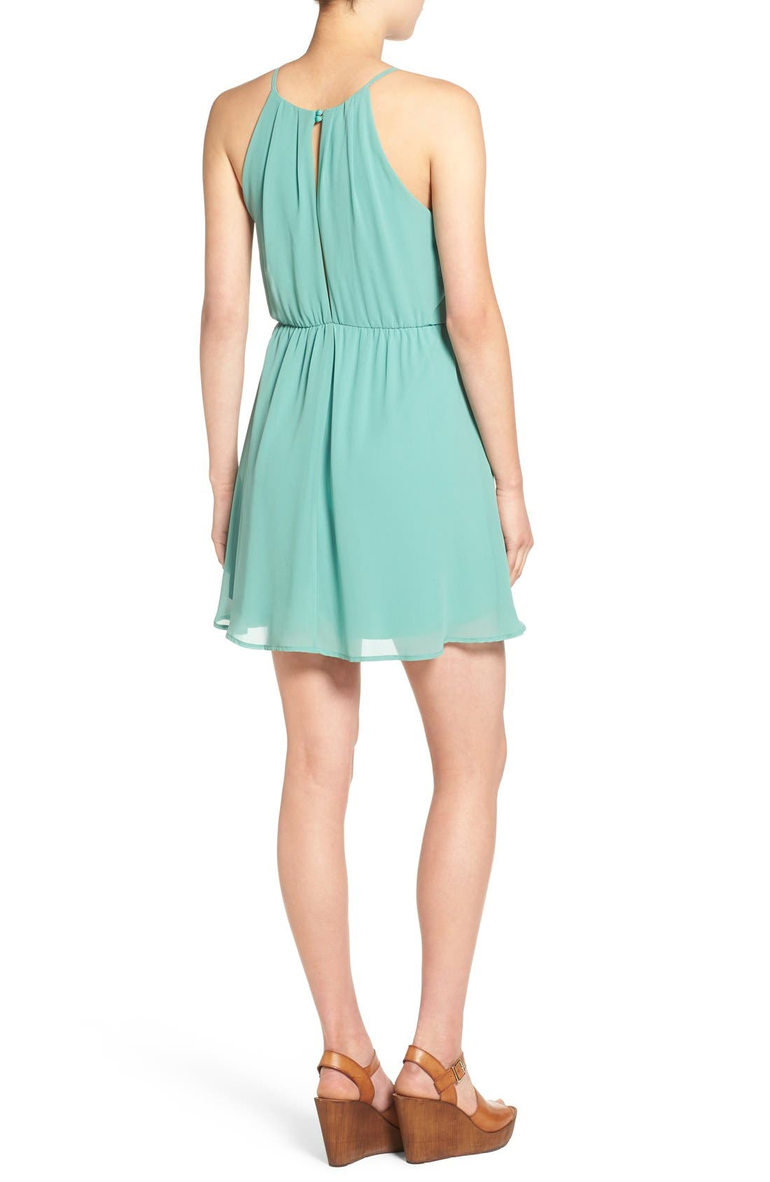 ,                             Blouson Chiffon Skater Dress,                             Alternate thumbnail 112, color,                             312