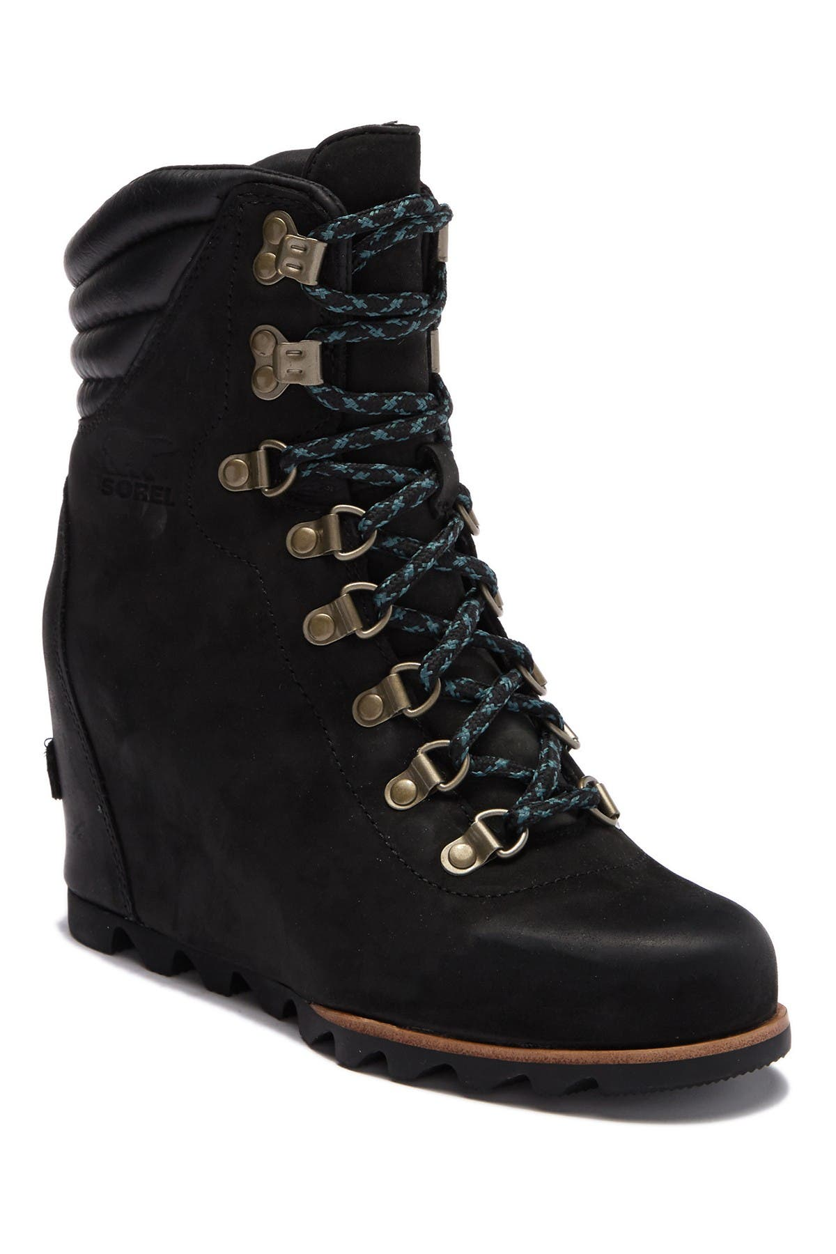 Image of Sorel Conquest Waterproof Leather Wedge Boot