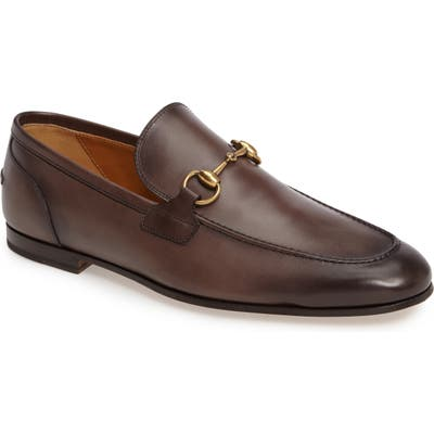 Gucci Jordaan Bit Loafer, Brown