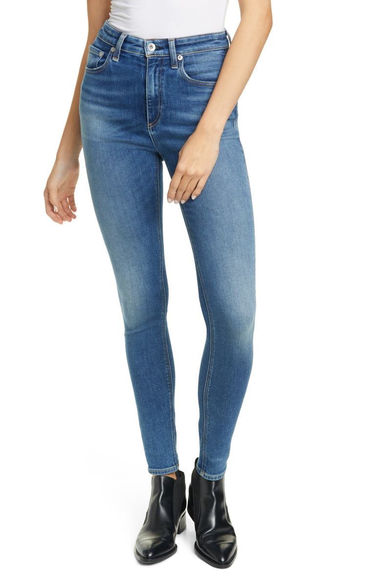 RAG & BONE Nina High Waist Skinny Jeans, Main, color, EXMOOR