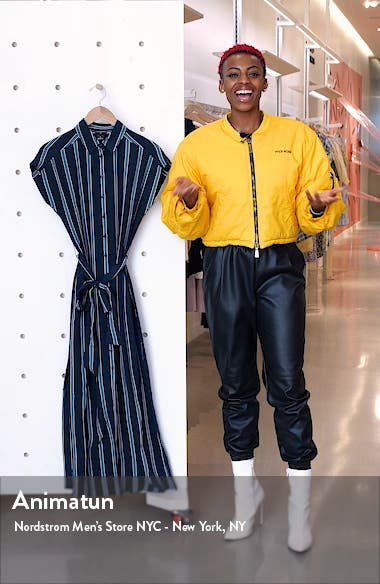 Danielle Stripe Silk Maxi Shirtdress, sales video thumbnail