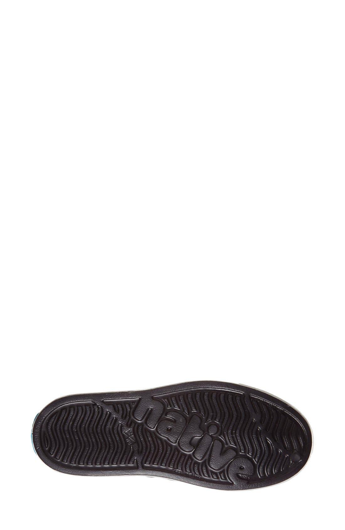,                             Jefferson Vegan Perforated Sneaker,                             Alternate thumbnail 4, color,                             BLACK/ WHITE