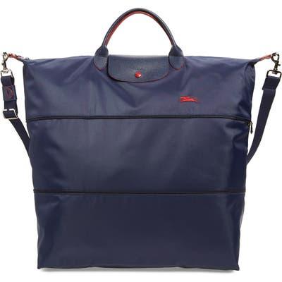 Longchamp Le Pliage Expandable Nylon Tote - Blue