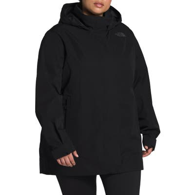 Plus Size The North Face Westoak City Waterproof & Windproof Coat, Black