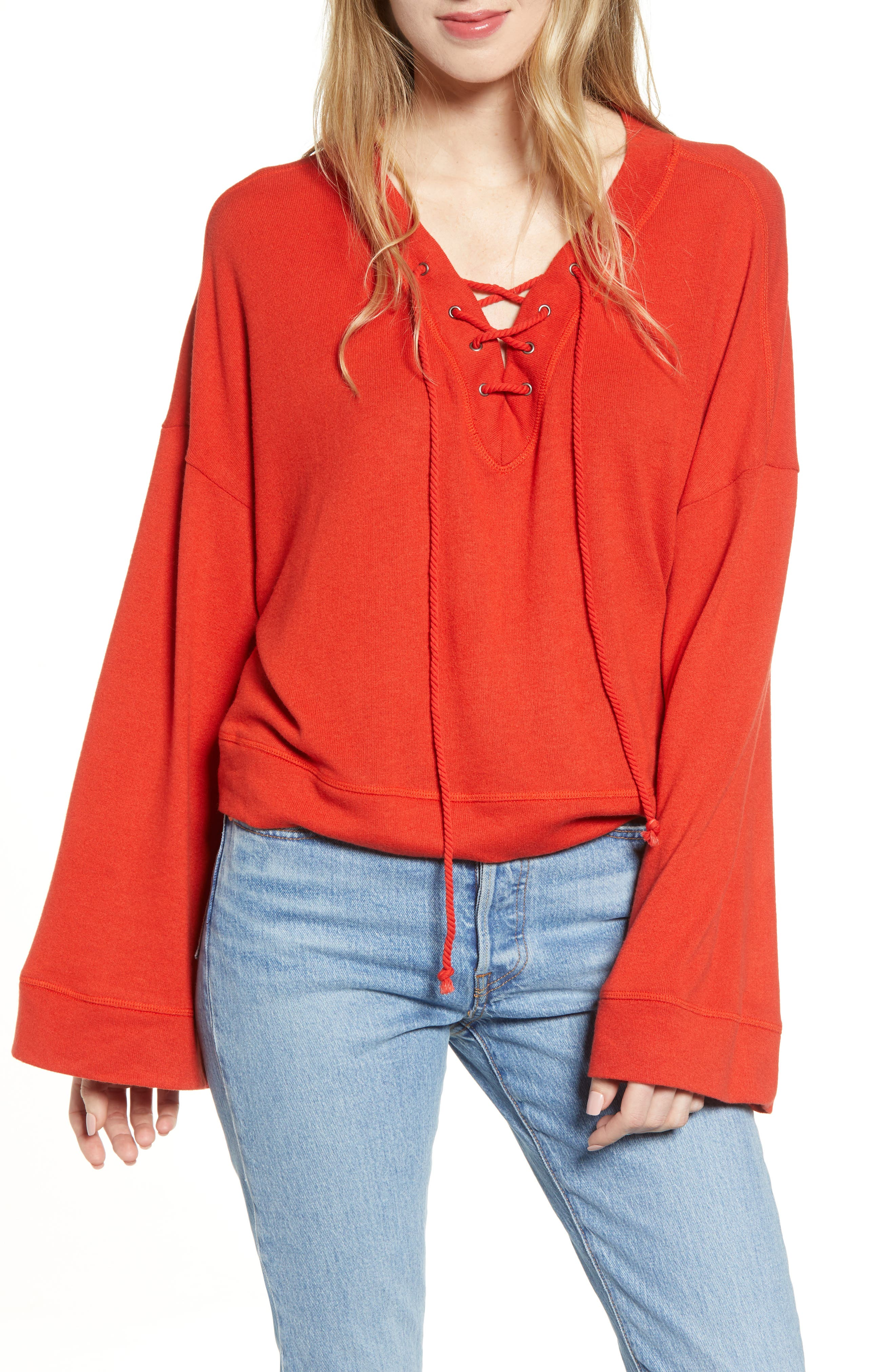 Cupcakes And Cashmere French Terry Sweatshirt, Red