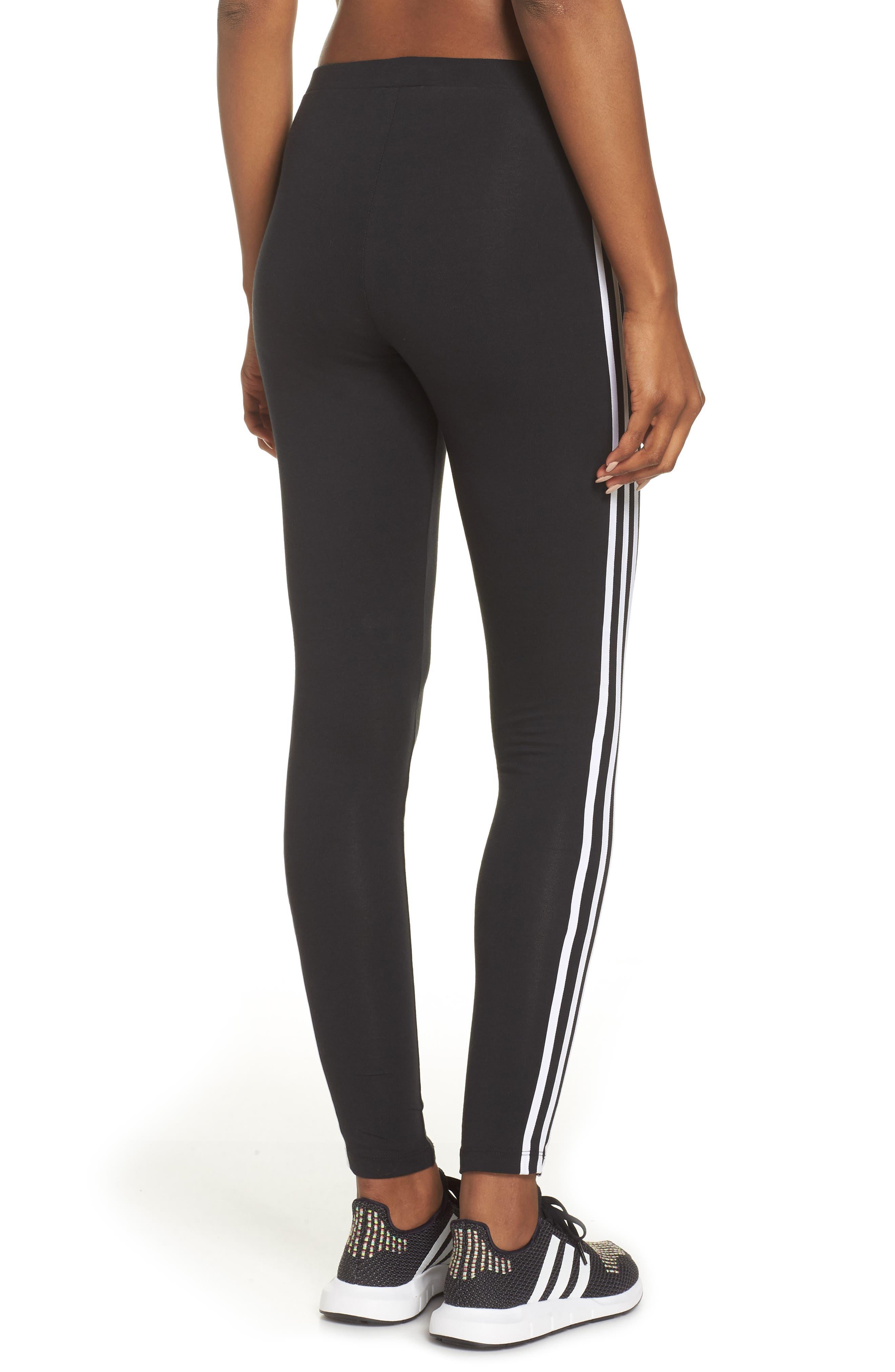 ,                             adidas 3-Stripes Tights,                             Alternate thumbnail 2, color,                             001