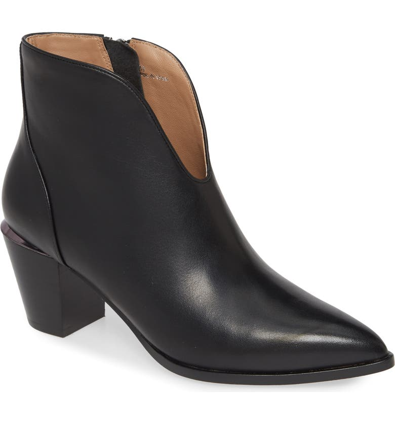 LINEA PAOLO Westly Bootie, Main, color, BLACK LEATHER