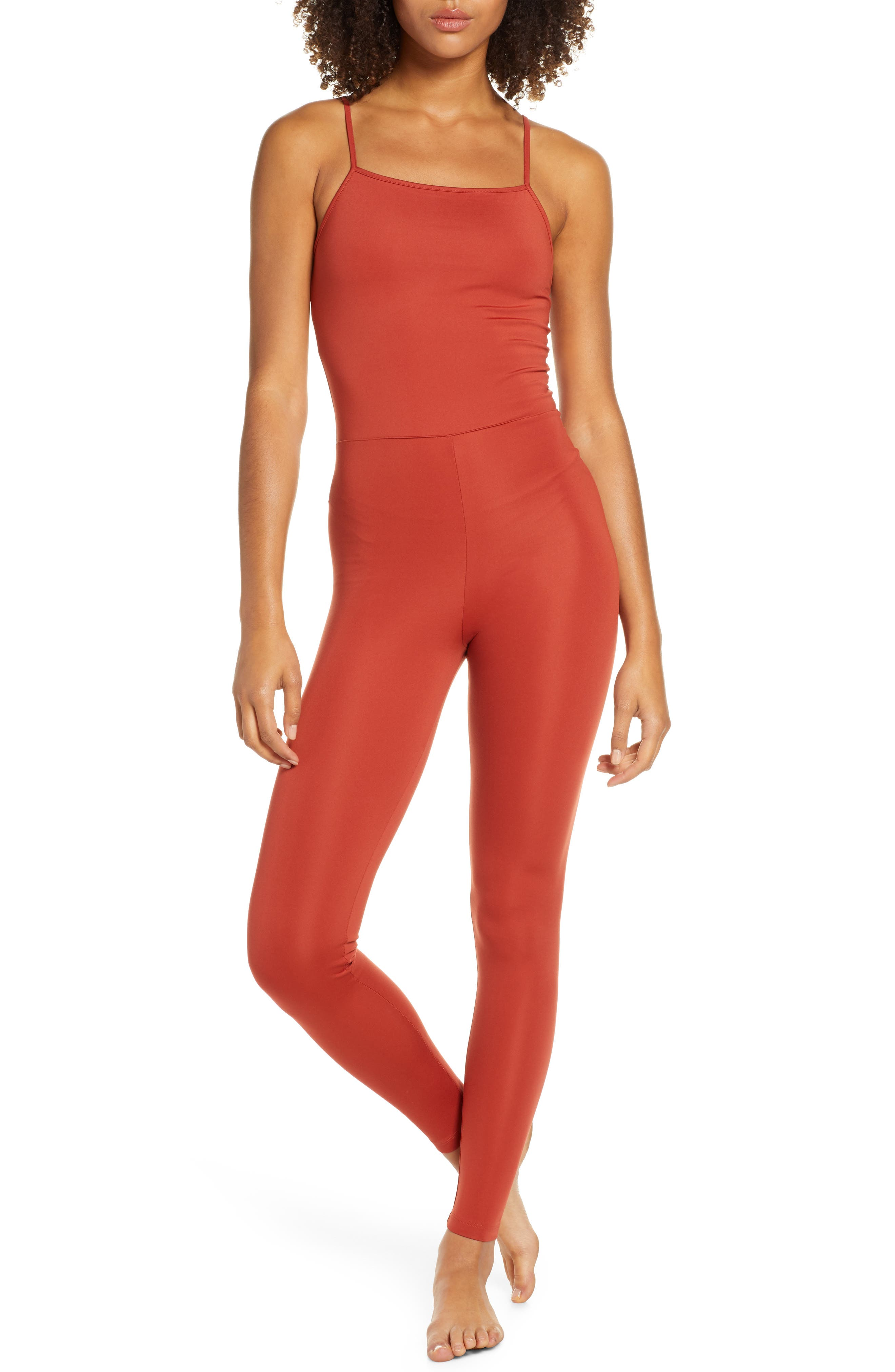 Girlfriend Collective Unitard, Red