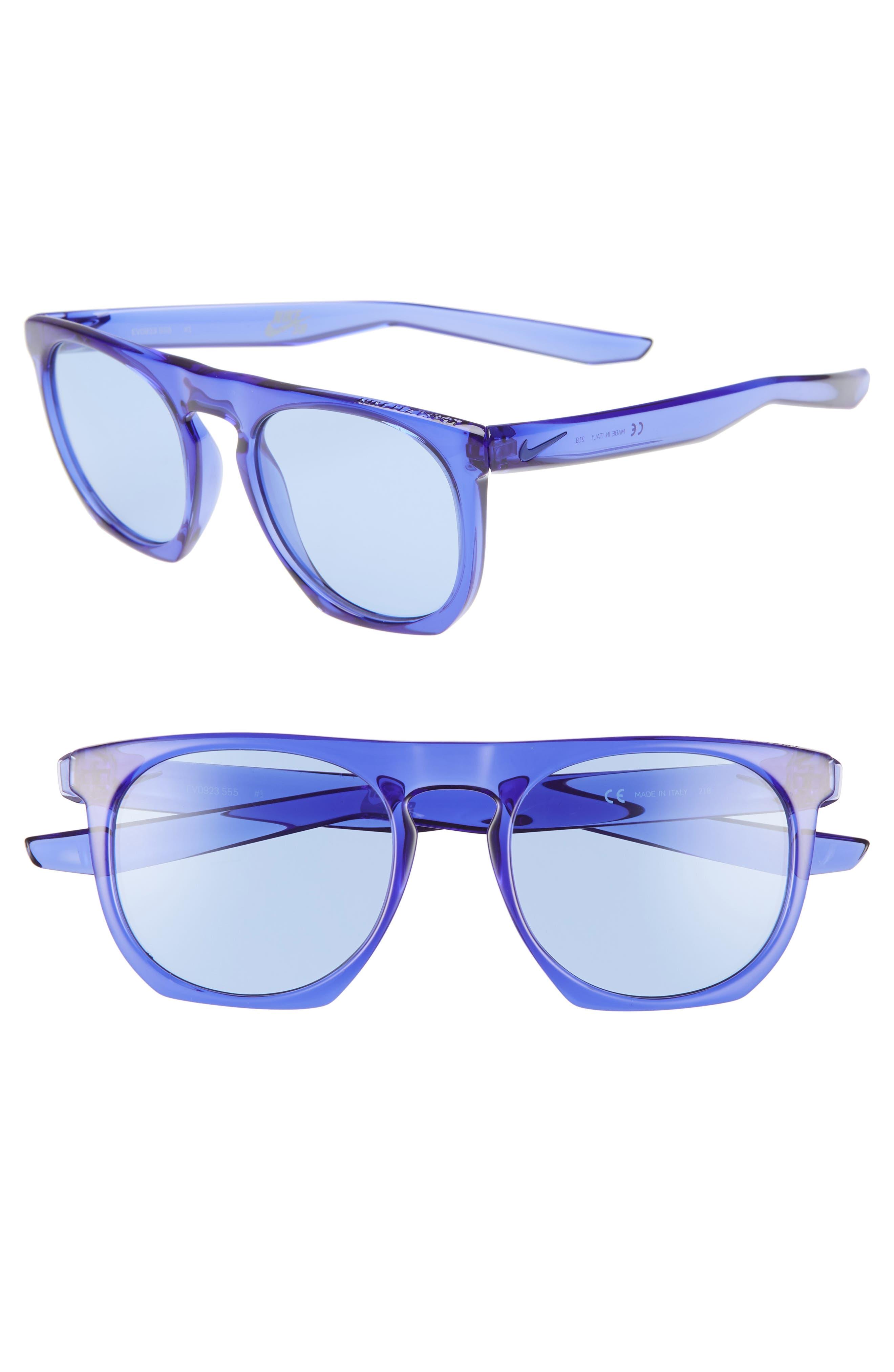 Nike Flatspot 52Mm Flat Top Sunglasses - Violet/ Violet