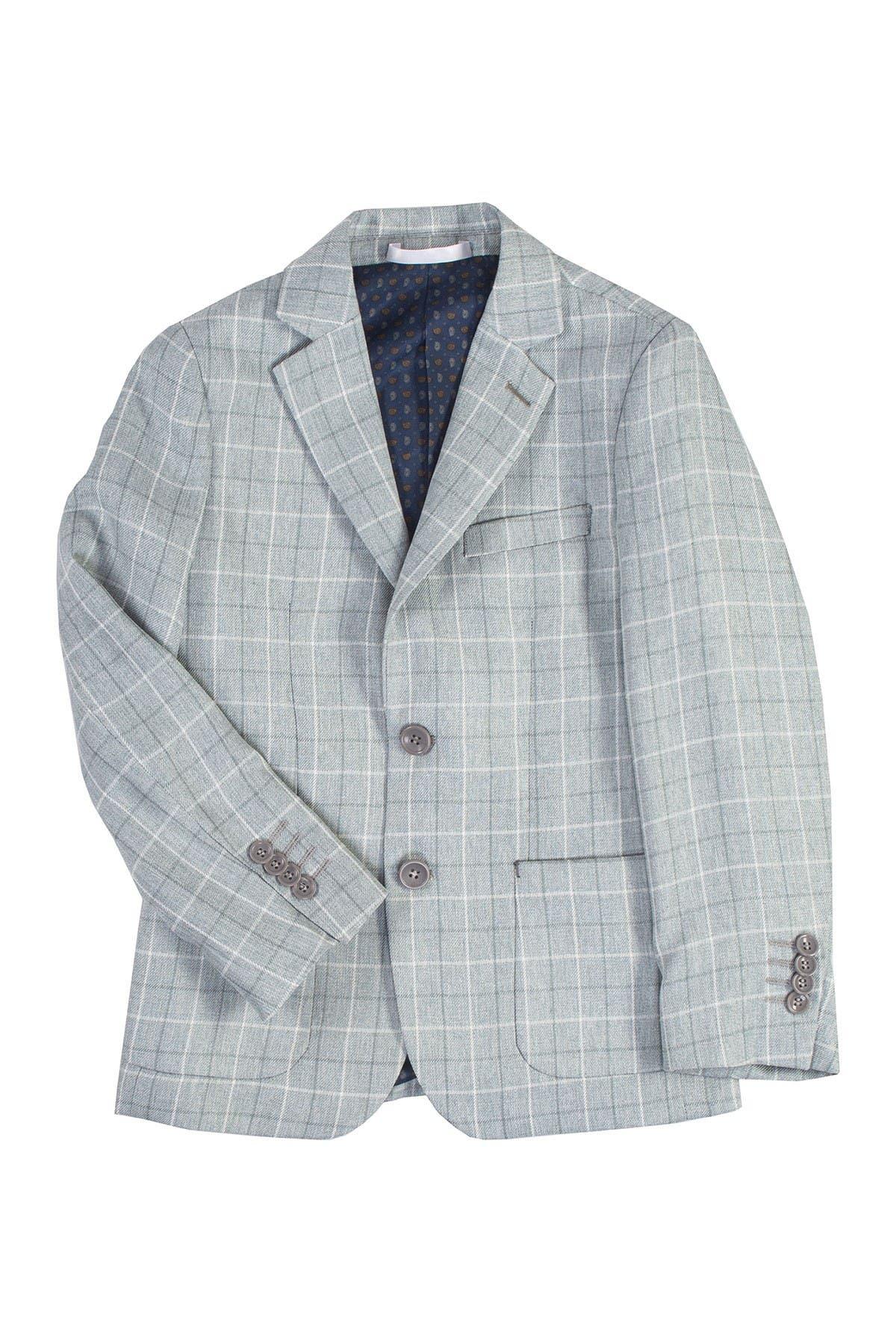Image of Isaac Mizrahi Multi Check Blazer