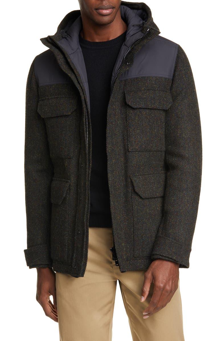 NORSE PROJECTS Nunk Harris Tweed Jacket, Main, color, BLACK MULTI