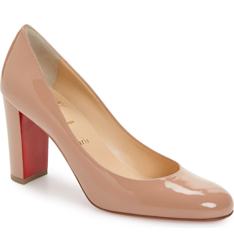 CHRISTIAN LOUBOUTIN Lady Gena Round Toe Pump, Main, color, NUDE