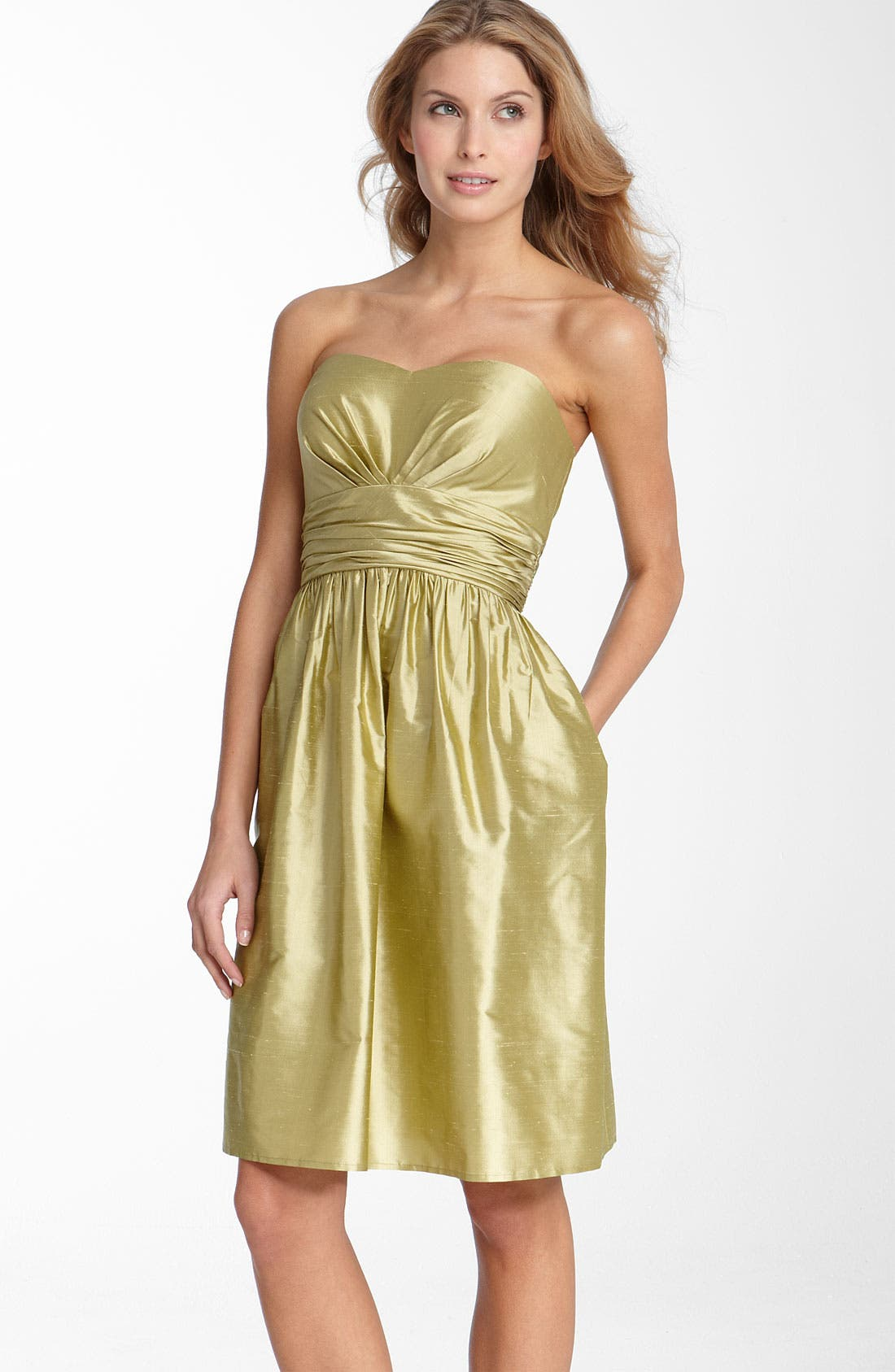 ,                             Silk Shantung Dress,                             Main thumbnail 5, color,                             376