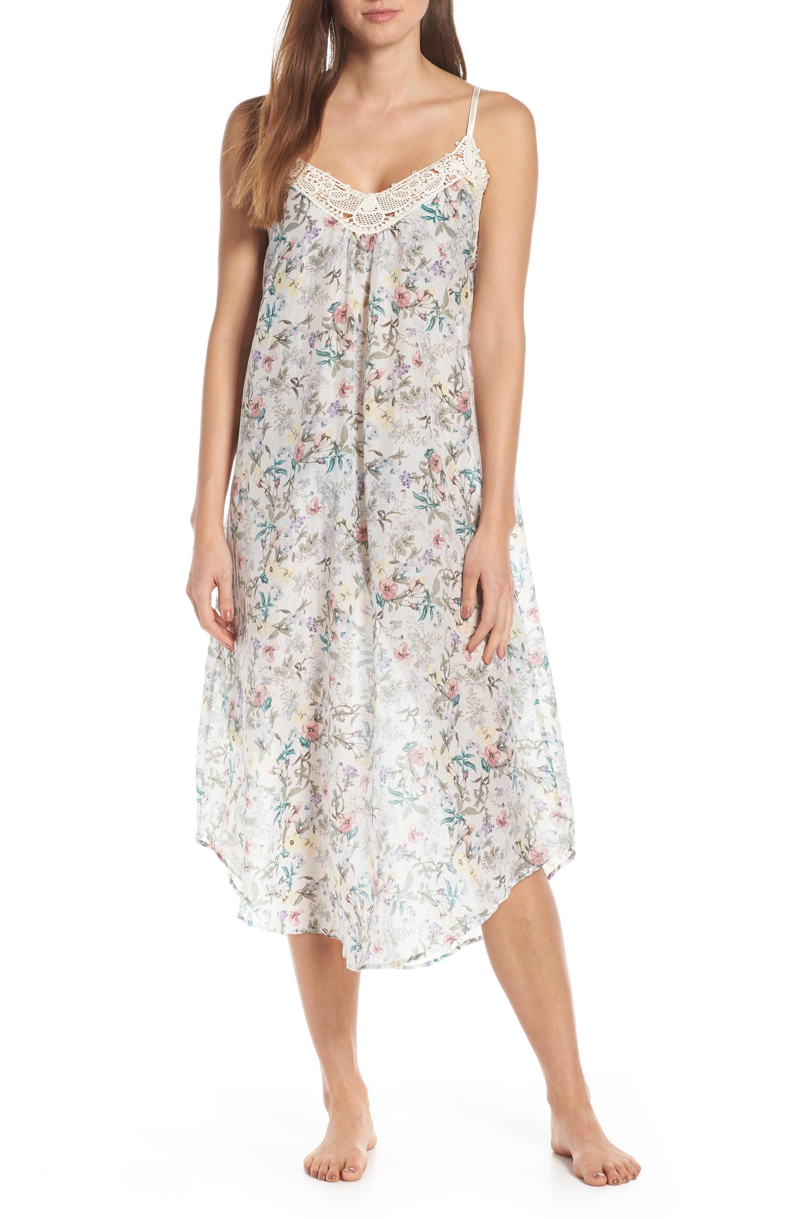 Papinelle Emmy Cotton & Silk Nightgown, Blue