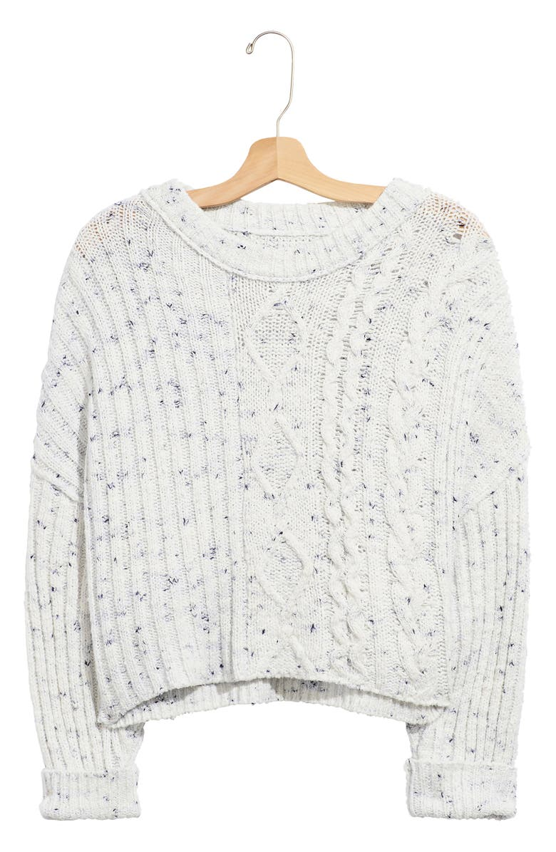 FREE PEOPLE On Your Side Crop Sweater, Main, color, BLUE COMBO
