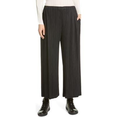 Pleats Please Issey Miyake Pleated High Waist Crop Pants, Black