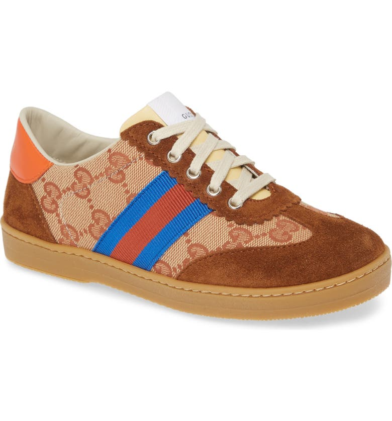 GUCCI G74 GG Low Top Sneaker, Main, color, BEIGE MULTI