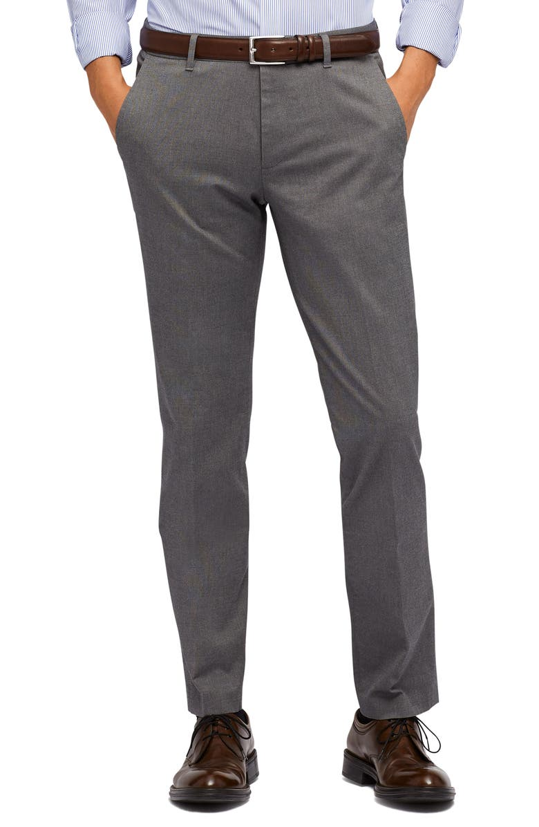 BONOBOS Weekday Warrior Tailored Fit Stretch Pants, Main, color, FRIDAY GREY YD