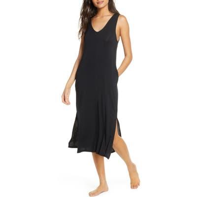 Nordstrom Moonlight Tank Nightgown, Black