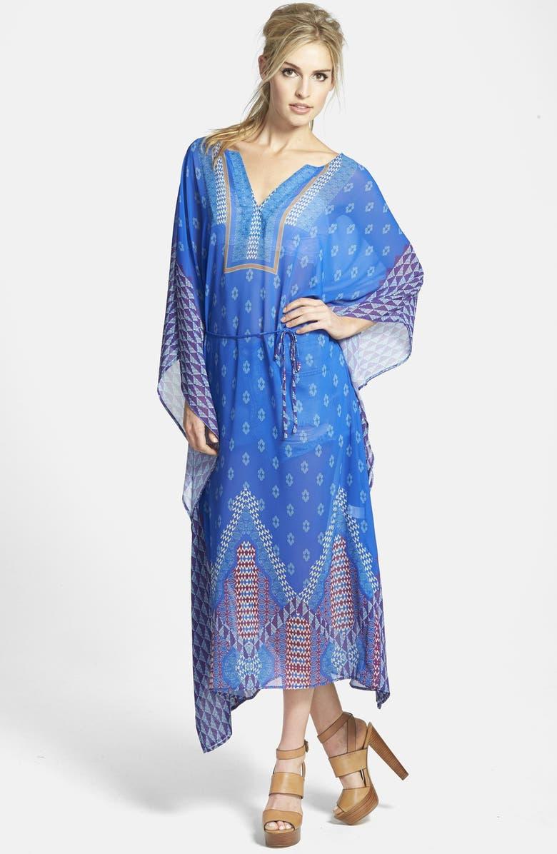 ASTR THE LABEL ASTR Tie Waist Caftan Dress, Main, color, 400