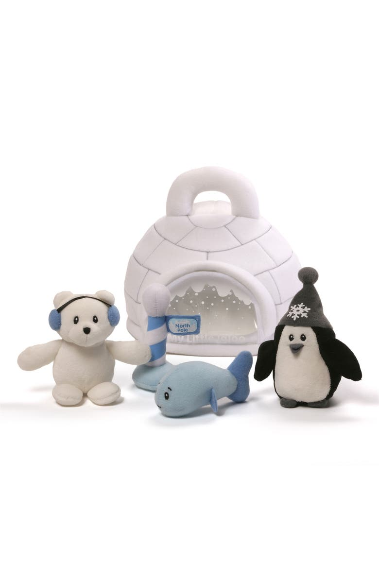 GUND My Little Igloo Stuffed Animal Set, Main, color, WHITE