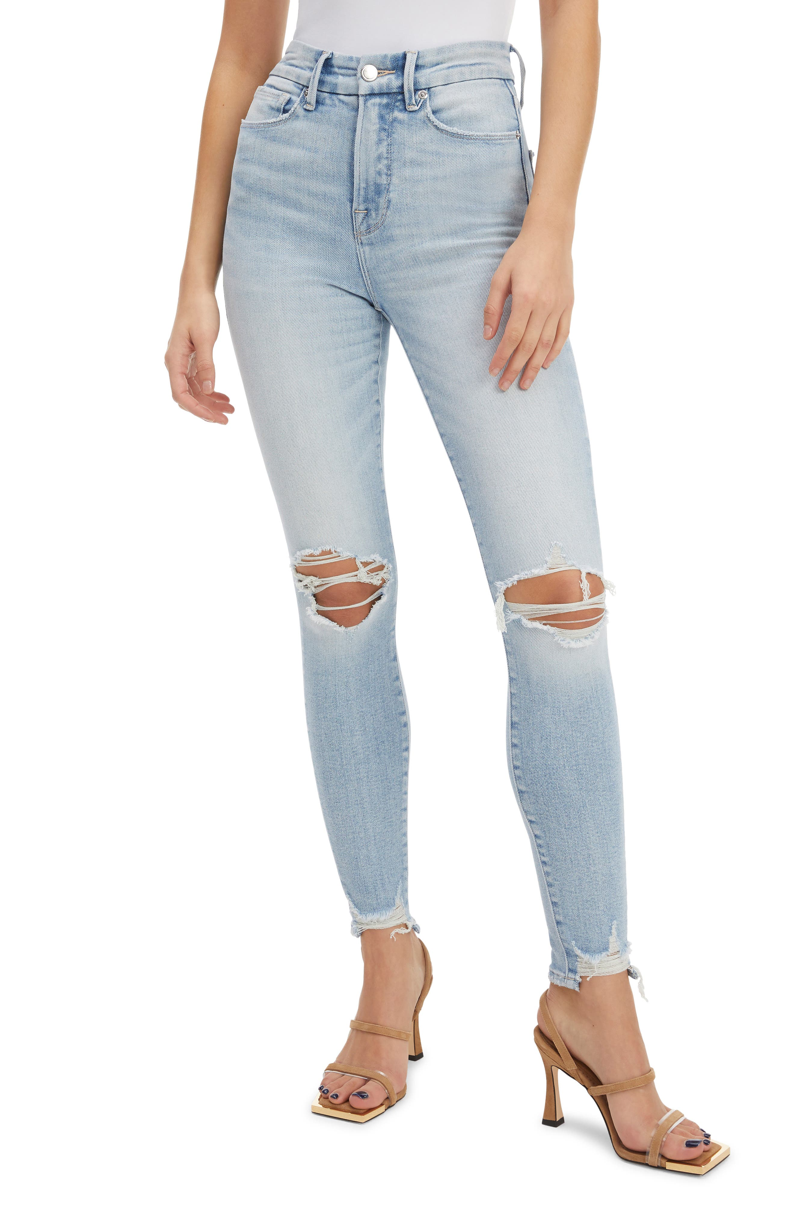 Good Waist Ripped Ankle Skinny Jeans