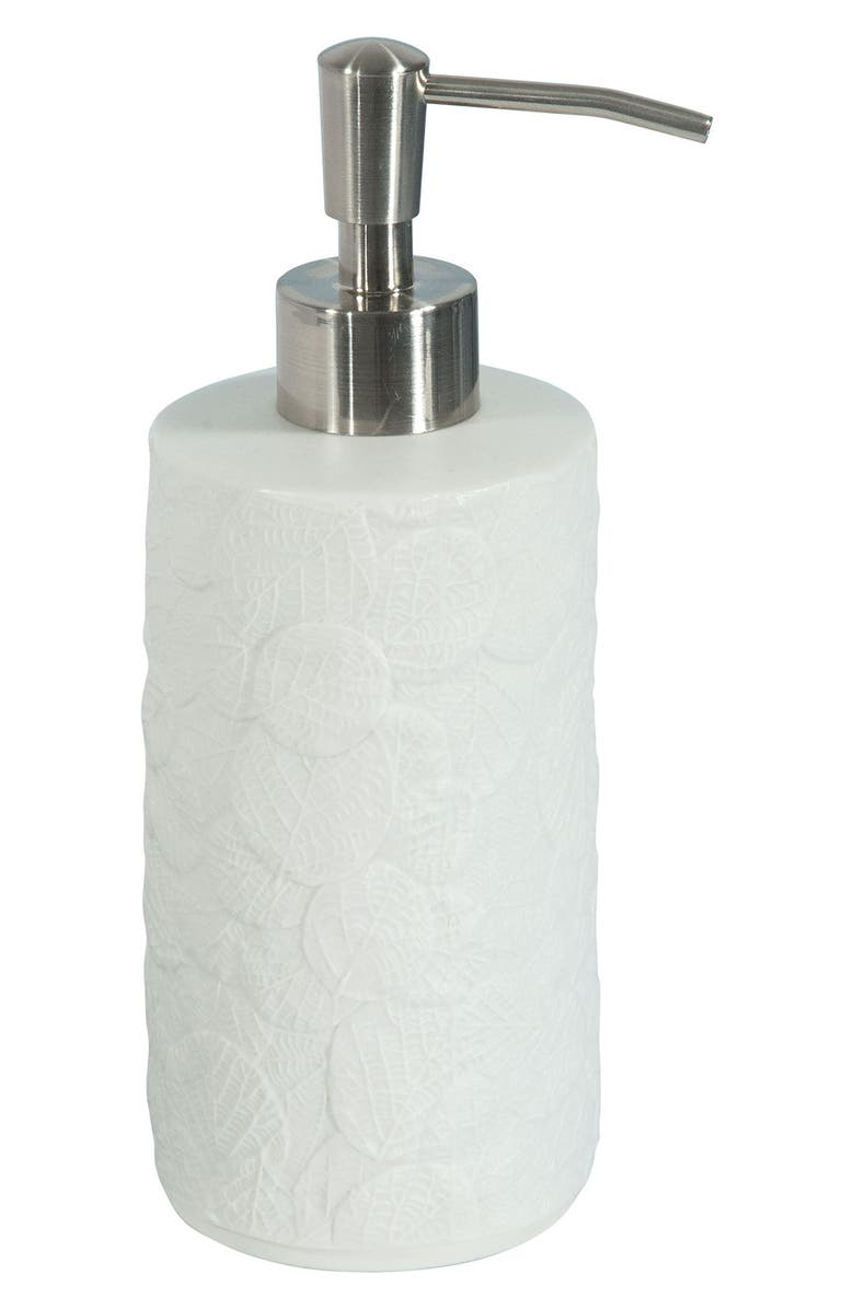 MICHAEL ARAM Botanical Leaf Porcelain Lotion Dispenser, Main, color, WHITE