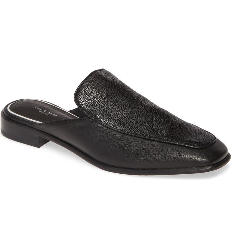 RAG & BONE Aslen Loafer Mule, Main, color, BLACK